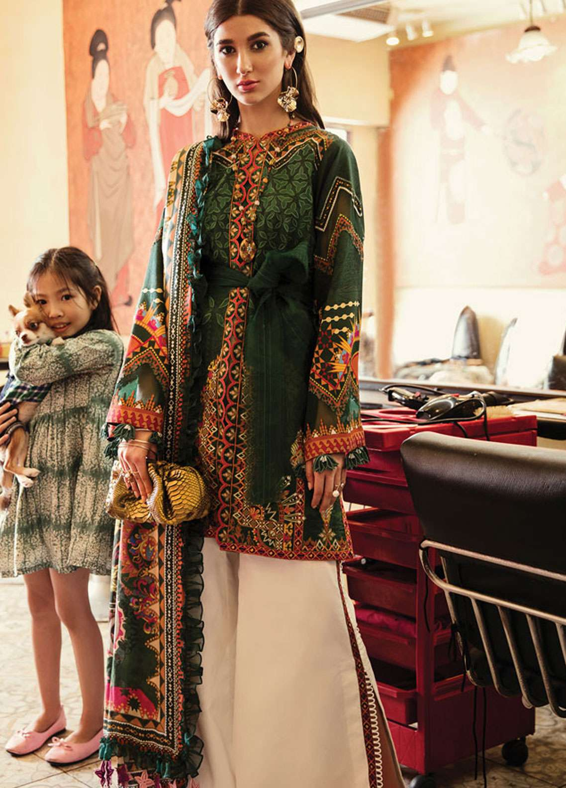 5af6de42dc Epoque by Sana Yasir Embroidered Lawn Unstitched 3 Piece Suit EP19L 06  VIRIDIAN - Spring / Summer Collection