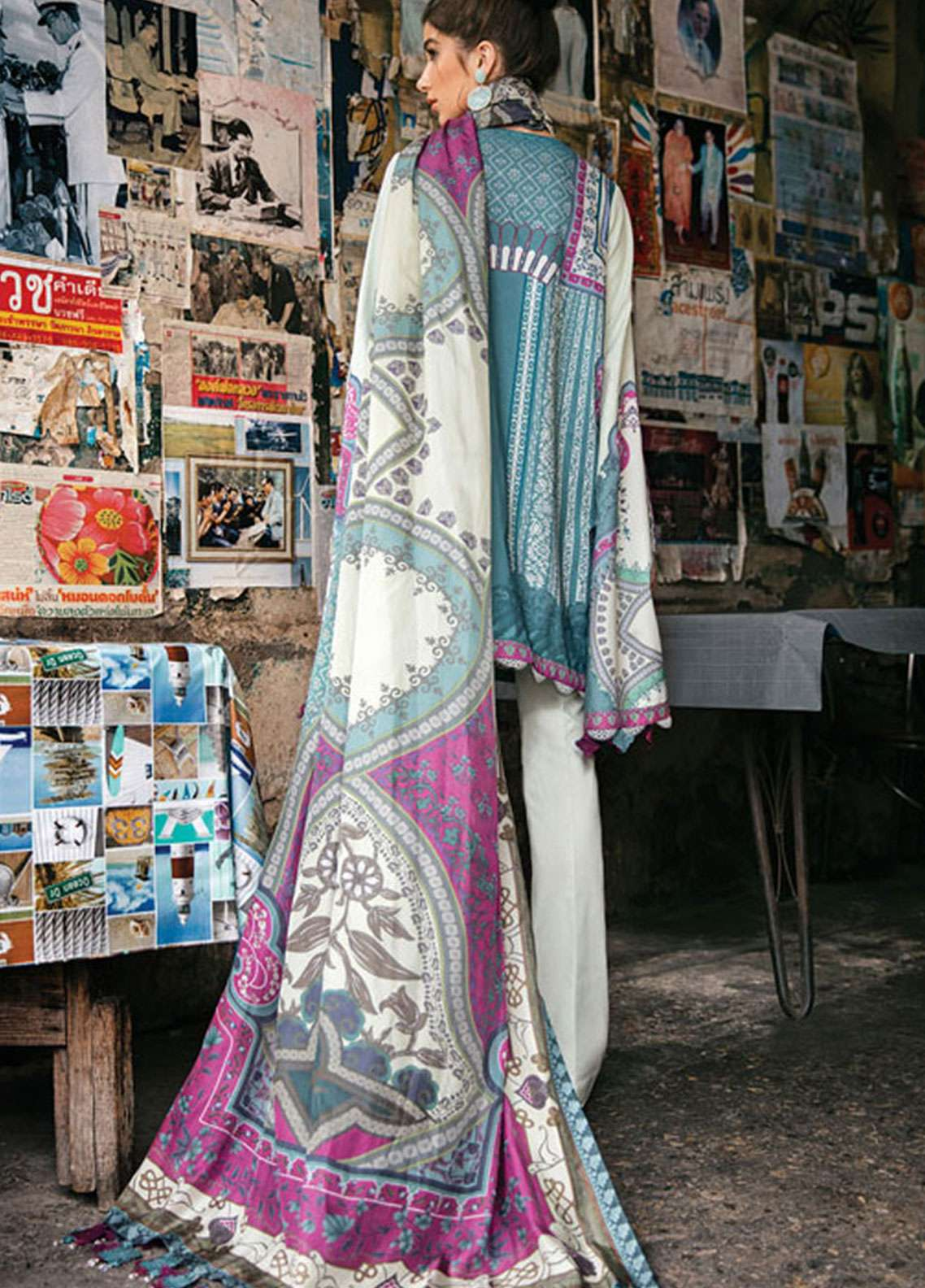 a205fd2675 Epoque by Sana Yasir Embroidered Lawn Unstitched 3 Piece Suit EP19L 08  ASTER - Spring / Summer Collection
