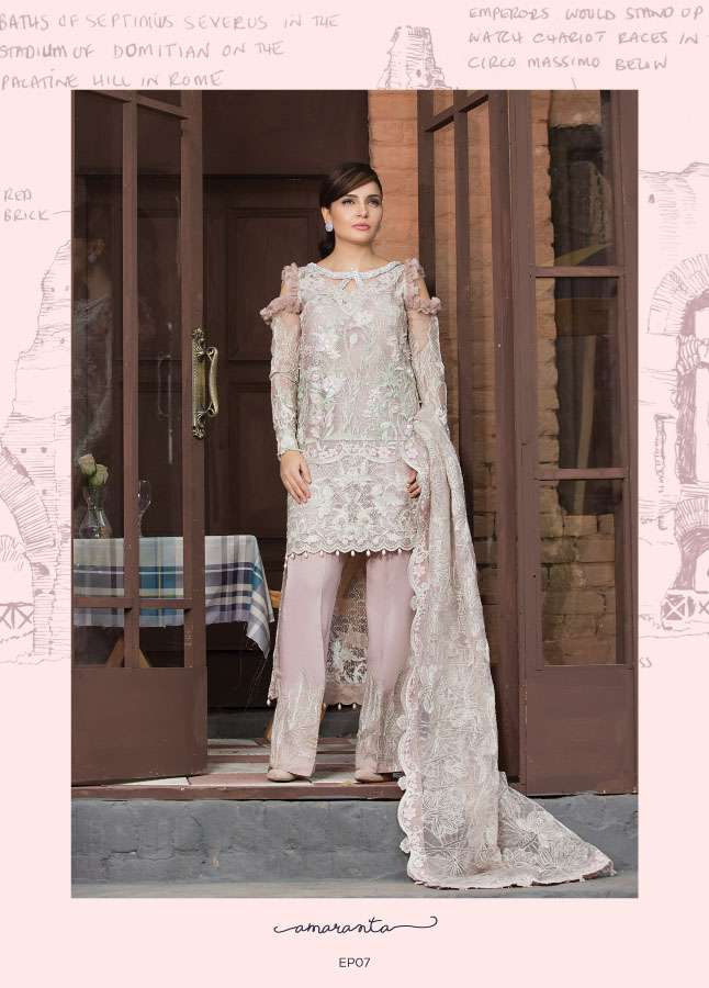 Epoque Suffuse by Sana Yasir Embroidered Chiffon Unstitched 3 Piece Suit ESY17C 07