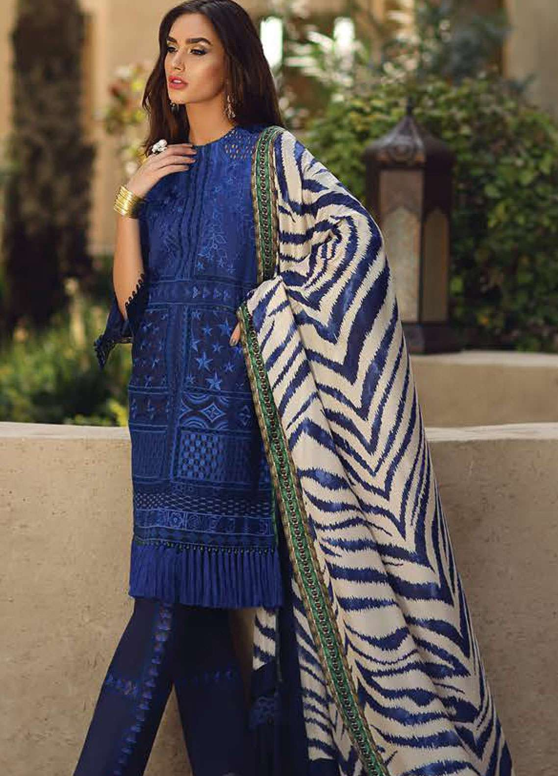 Faraz Manan Embroidered Pima Cotton Unstitched 3 Piece Suit FZM19L 10 - Spring / Summer Collection