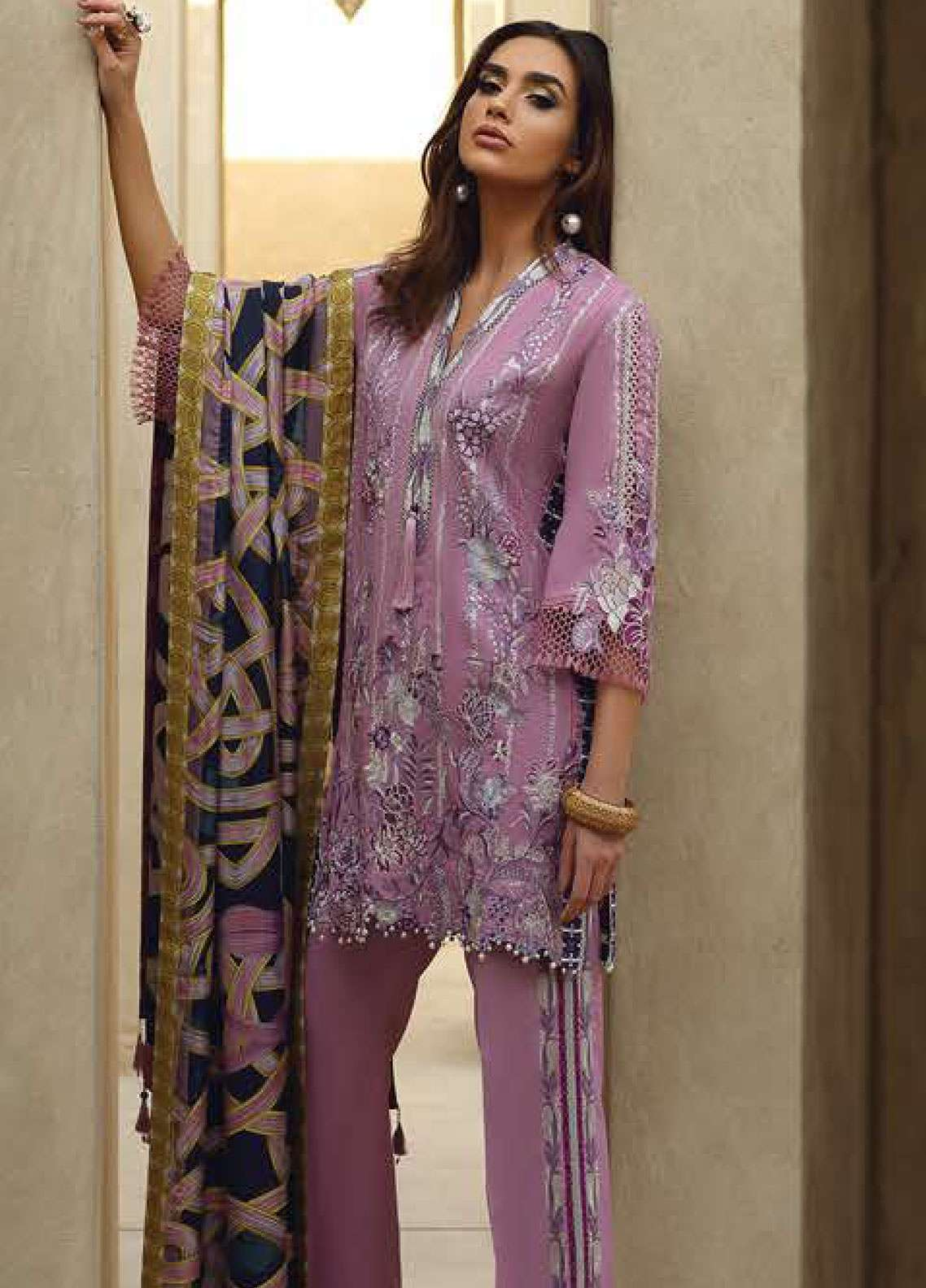 Faraz Manan Embroidered Pima Cotton Unstitched 3 Piece Suit FZM19L 18 - Spring / Summer Collection