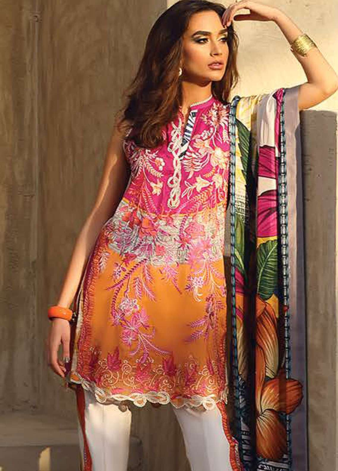 Faraz Manan Embroidered Pima Cotton Unstitched 3 Piece Suit FZM19L 9 - Spring / Summer Collection