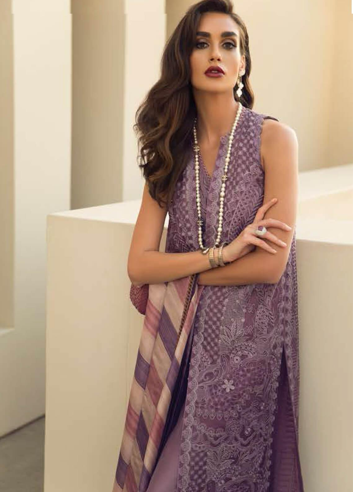 efaf3d4593 Faraz Manan Embroidered Lawn & Silk Suits Collection 2019 - Online ...