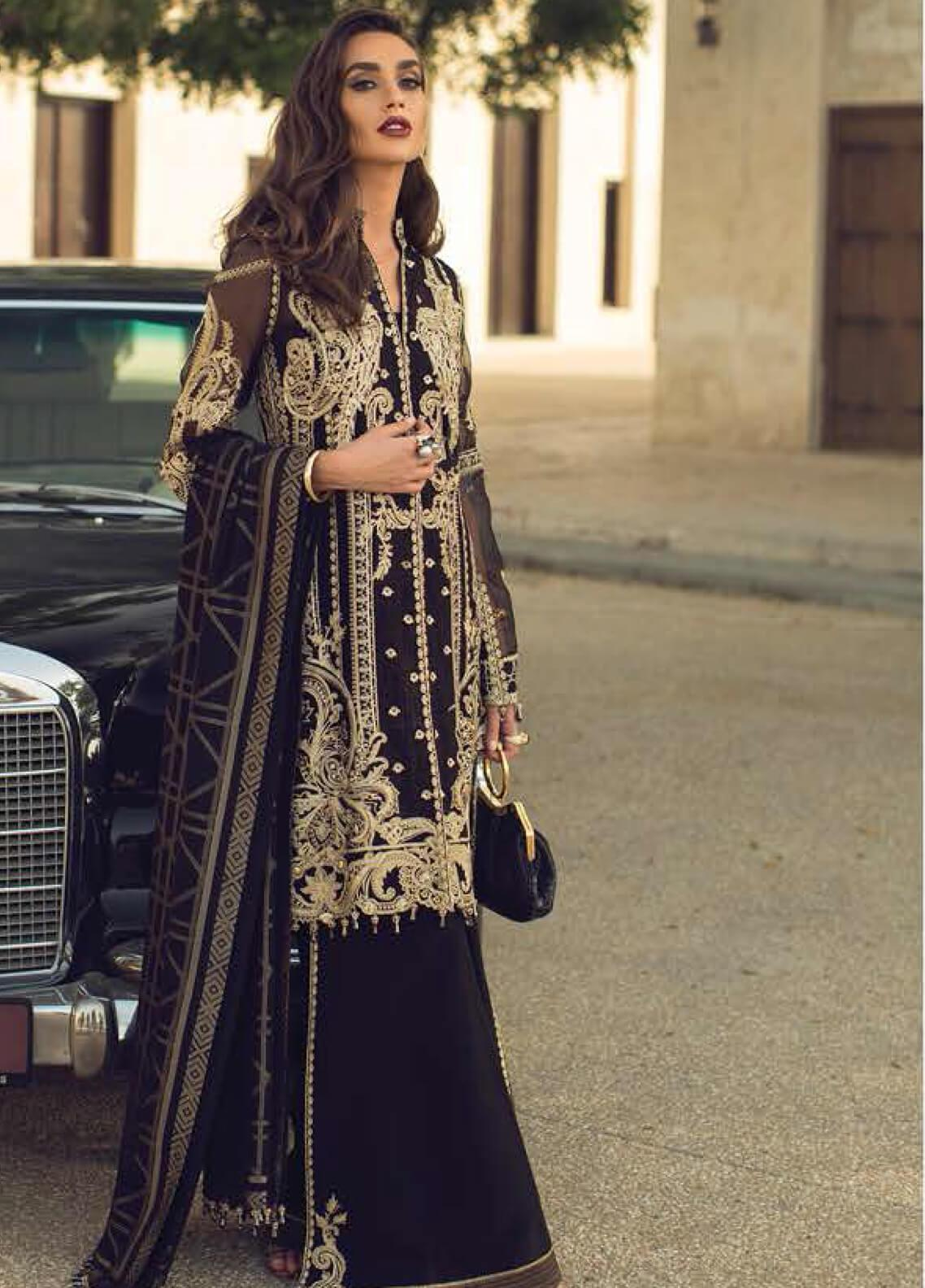 Faraz Manan Embroidered Organza Unstitched 3 Piece Suit FZM19LX 03 - Luxury Collection