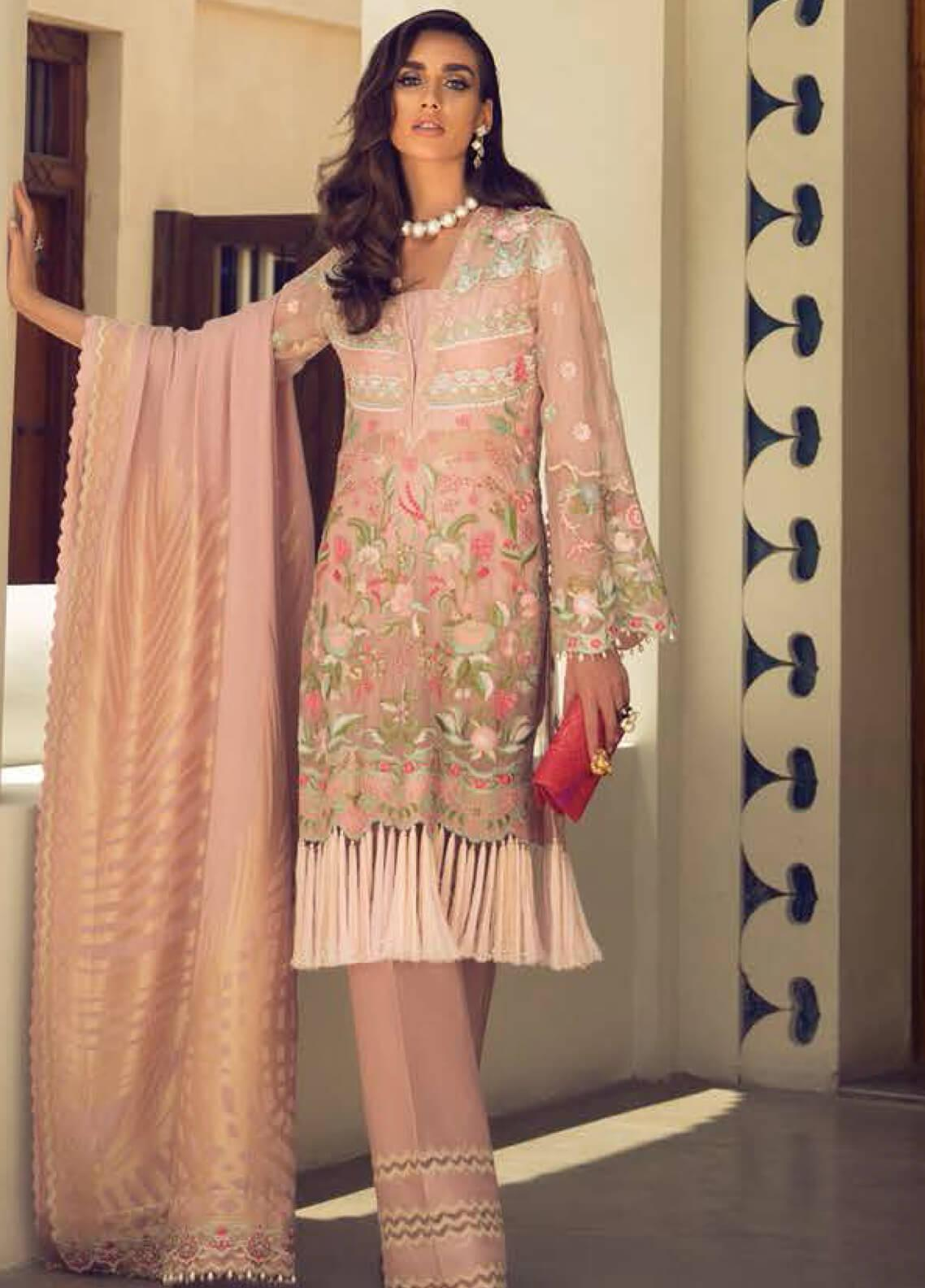 Faraz Manan Embroidered Organza Unstitched 3 Piece Suit FZM19LX 04 - Luxury Collection