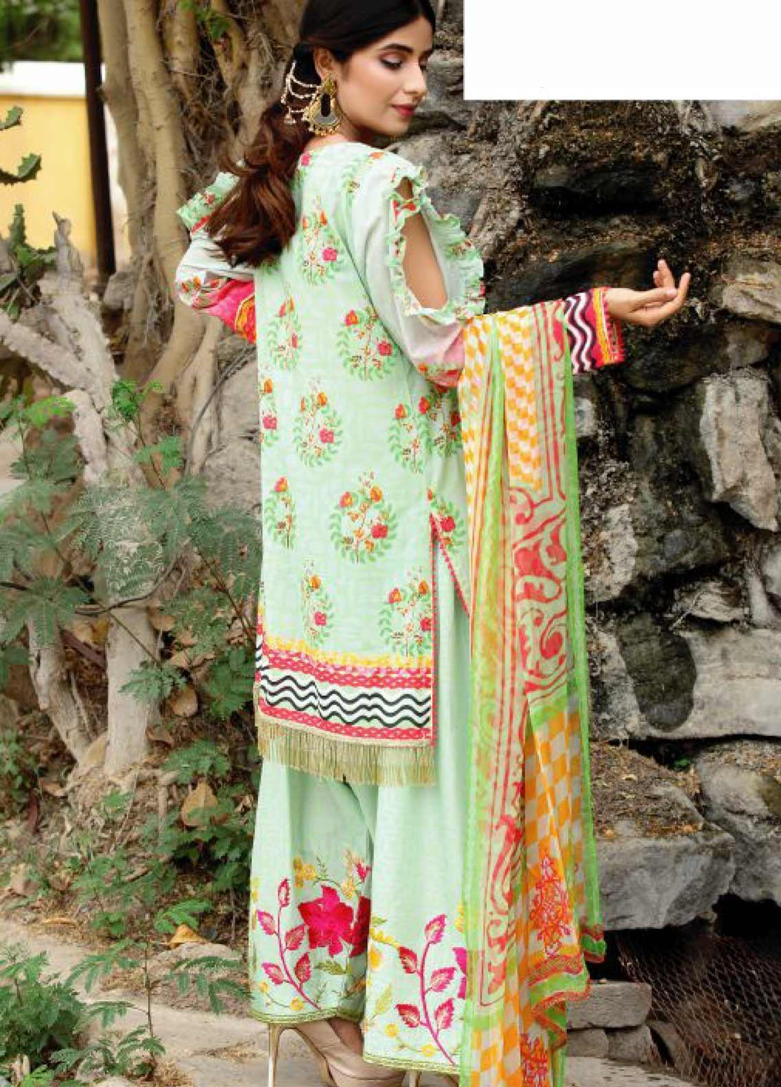 7d2563db7d Fateh Embroidered Lawn Unstitched 3 Piece Suit FT19RR GUL RUKH - Mid Summer  Collection