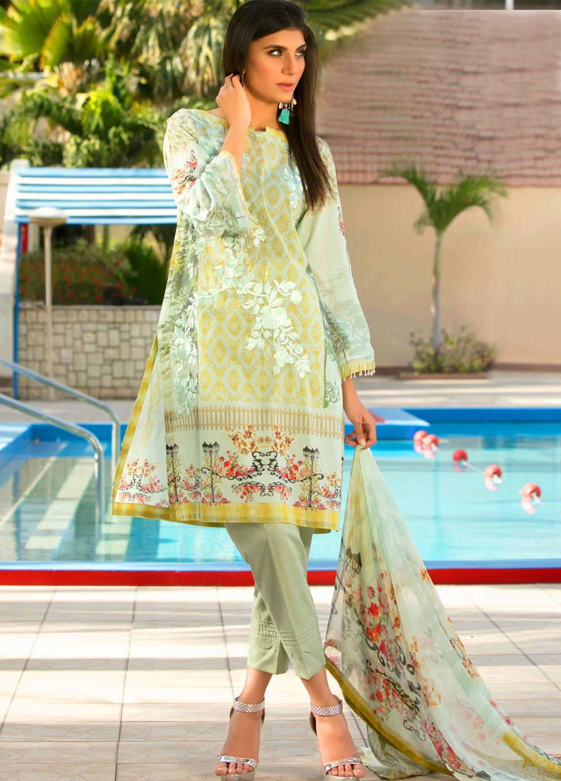 Fateh Embroidered Lawn Unstitched 3 Piece Suit FT19L FS-0132 - Mid Summer Collection