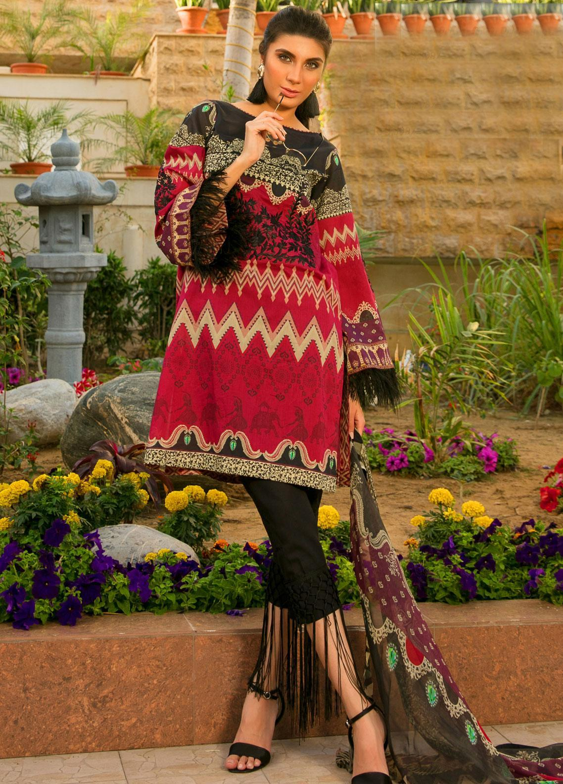 Fateh Embroidered Lawn Unstitched 3 Piece Suit FT19L FS-0134 - Mid Summer Collection