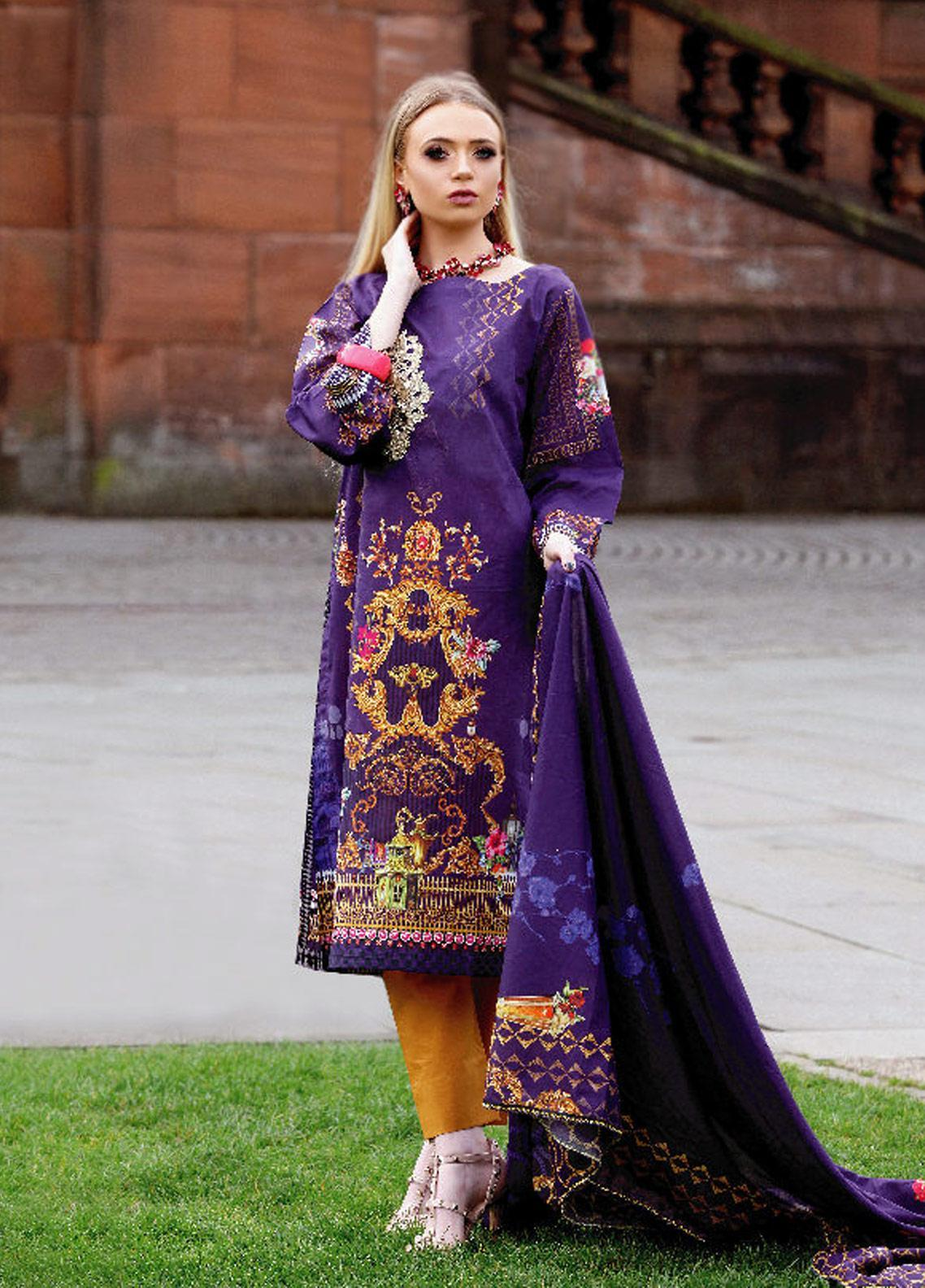 Fateh Printed Lawn Unstitched 2 Piece Suit FT19OR FS-0182 - Mid Summer Collection