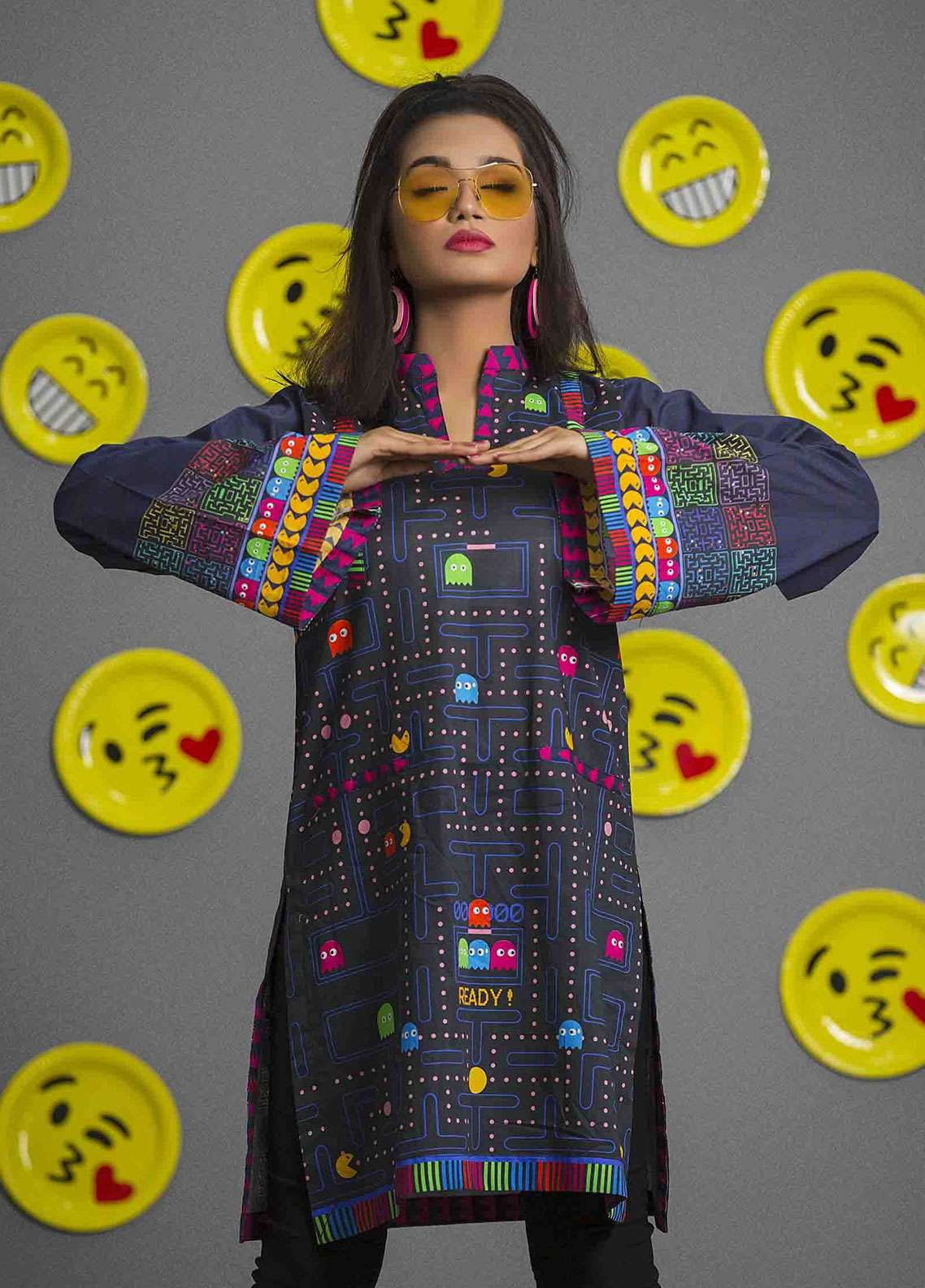 Fateh Printed Cambric Unstitched Kurties FS-0086 - Spunk Collection