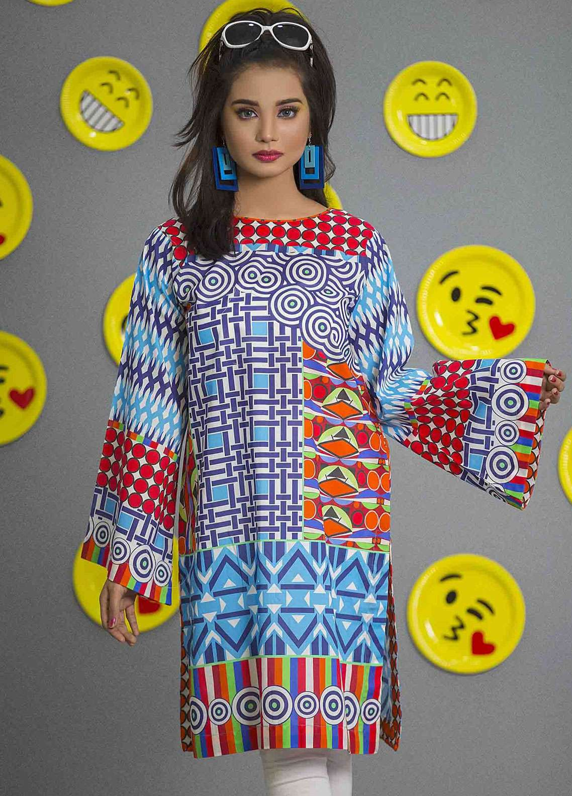 Fateh Printed Cambric Unstitched Kurties FS-0088 - Spunk Collection