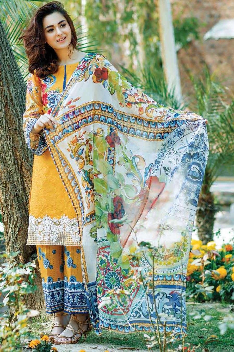 Firdous Fashion Embroidered Lawn Unstitched 3 Piece Suit FI17L 06