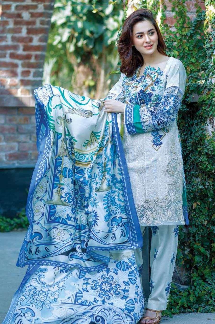 Firdous Fashion Embroidered Lawn Unstitched 3 Piece Suit FI17L 10