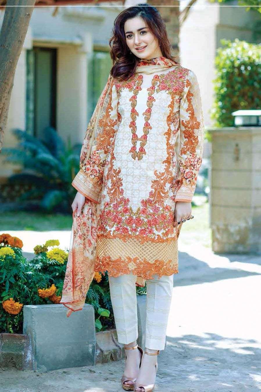Firdous Fashion Embroidered Lawn Unstitched 3 Piece Suit FI17L 11