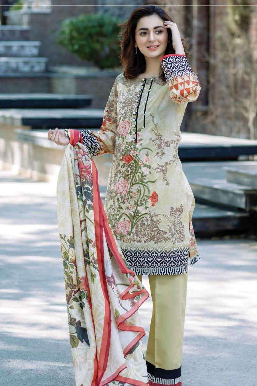 Firdous Fashion Embroidered Lawn Unstitched 3 Piece Suit FI17L 2A