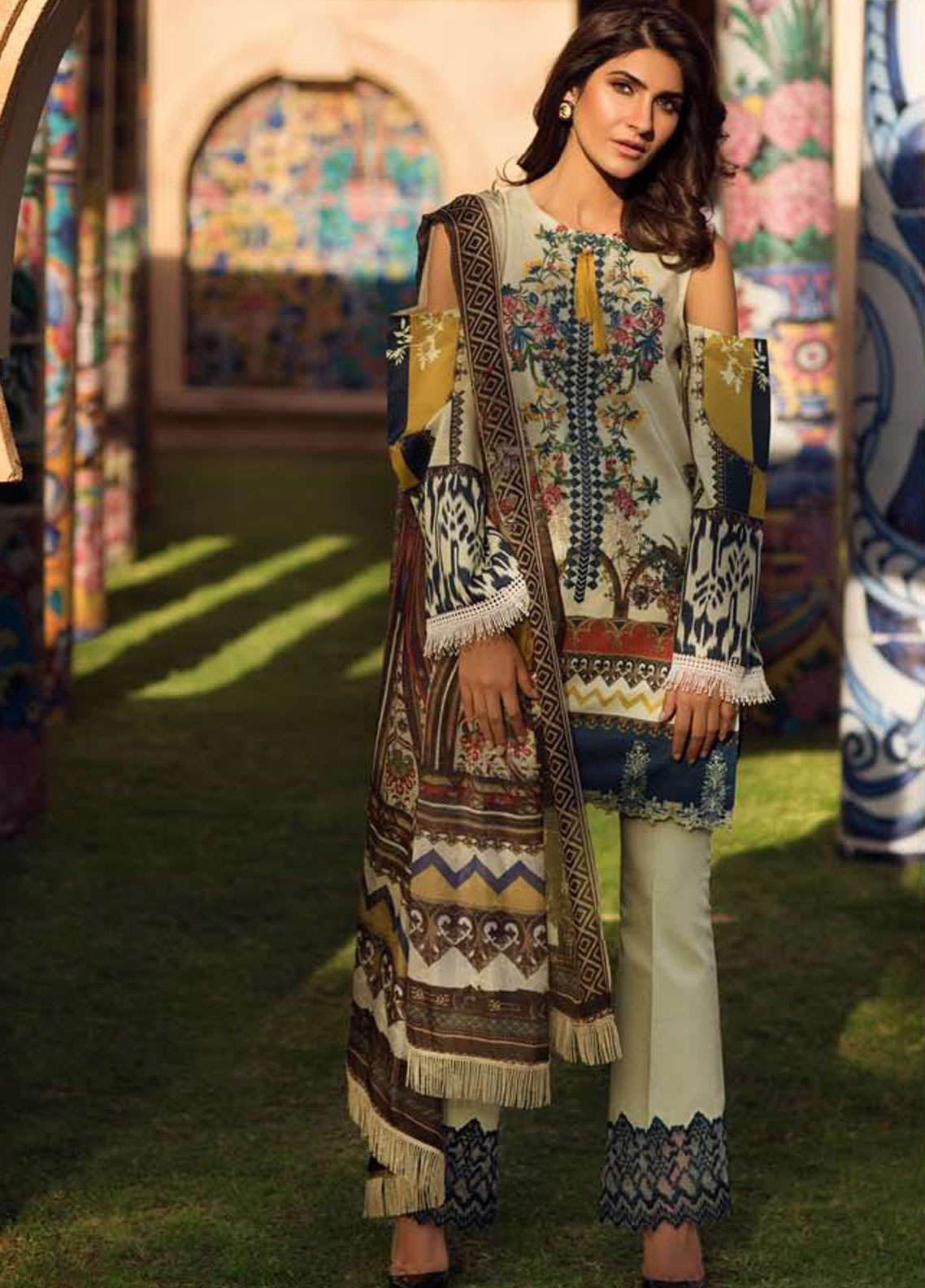 Firdous Fashion Embroidered Lawn Unstitched 3 Piece Suit FR19L 02 - Spring / Summer Collection