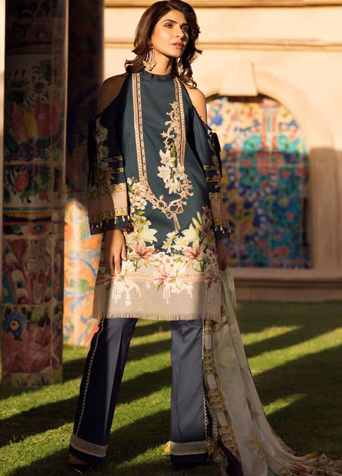 Firdous Fashion Embroidered Lawn Unstitched 3 Piece Suit FR19L 03 - Spring / Summer Collection