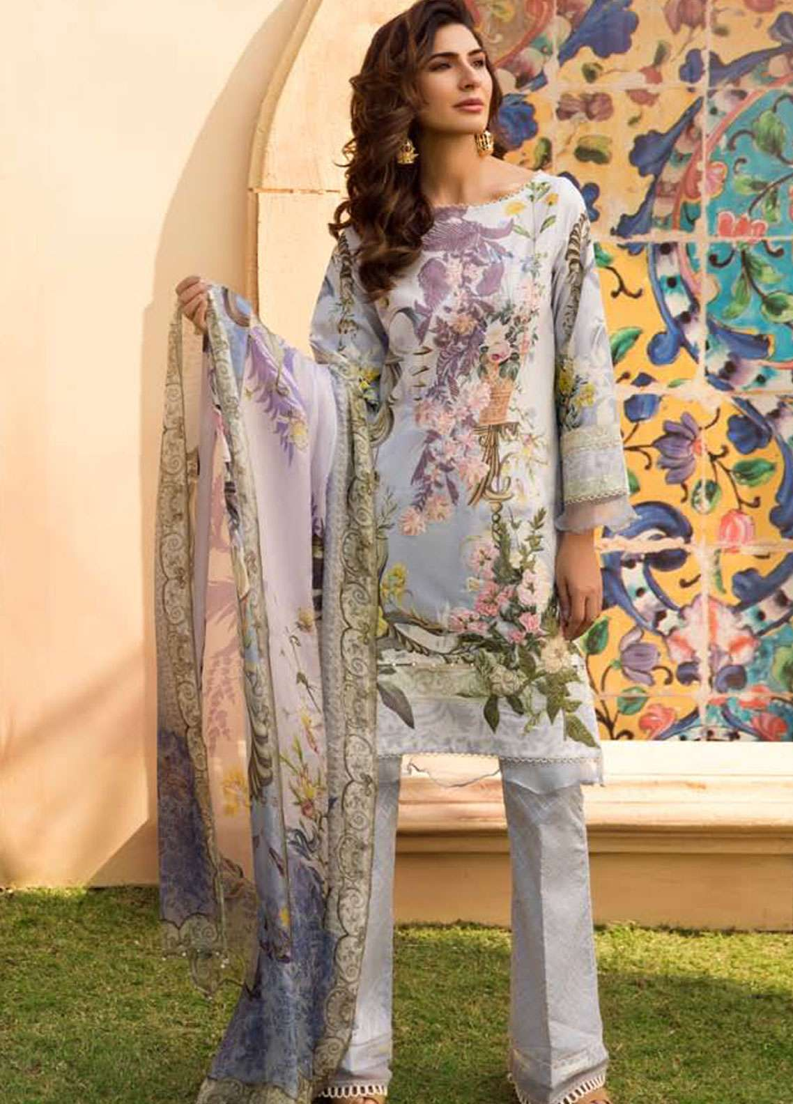 Firdous Fashion Embroidered Lawn Unstitched 3 Piece Suit FR19L 04 - Spring / Summer Collection