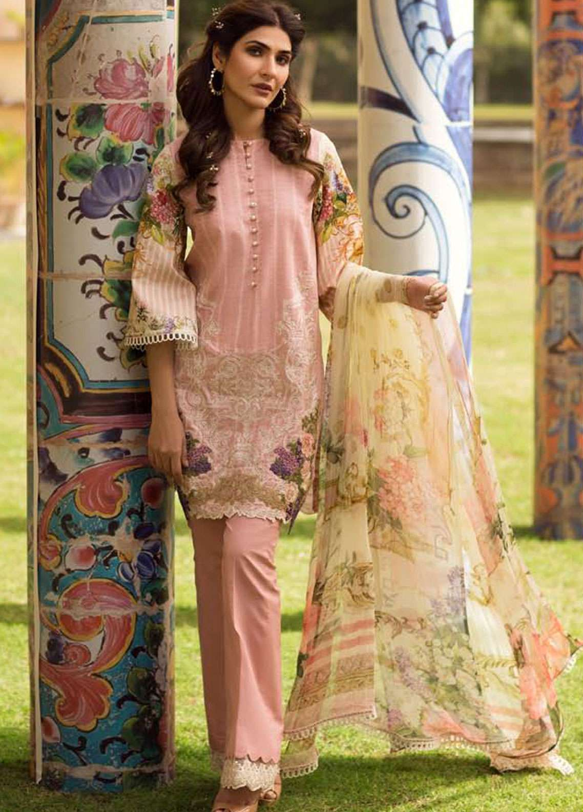 Firdous Fashion Embroidered Lawn Unstitched 3 Piece Suit FR19L 09 - Spring / Summer Collection