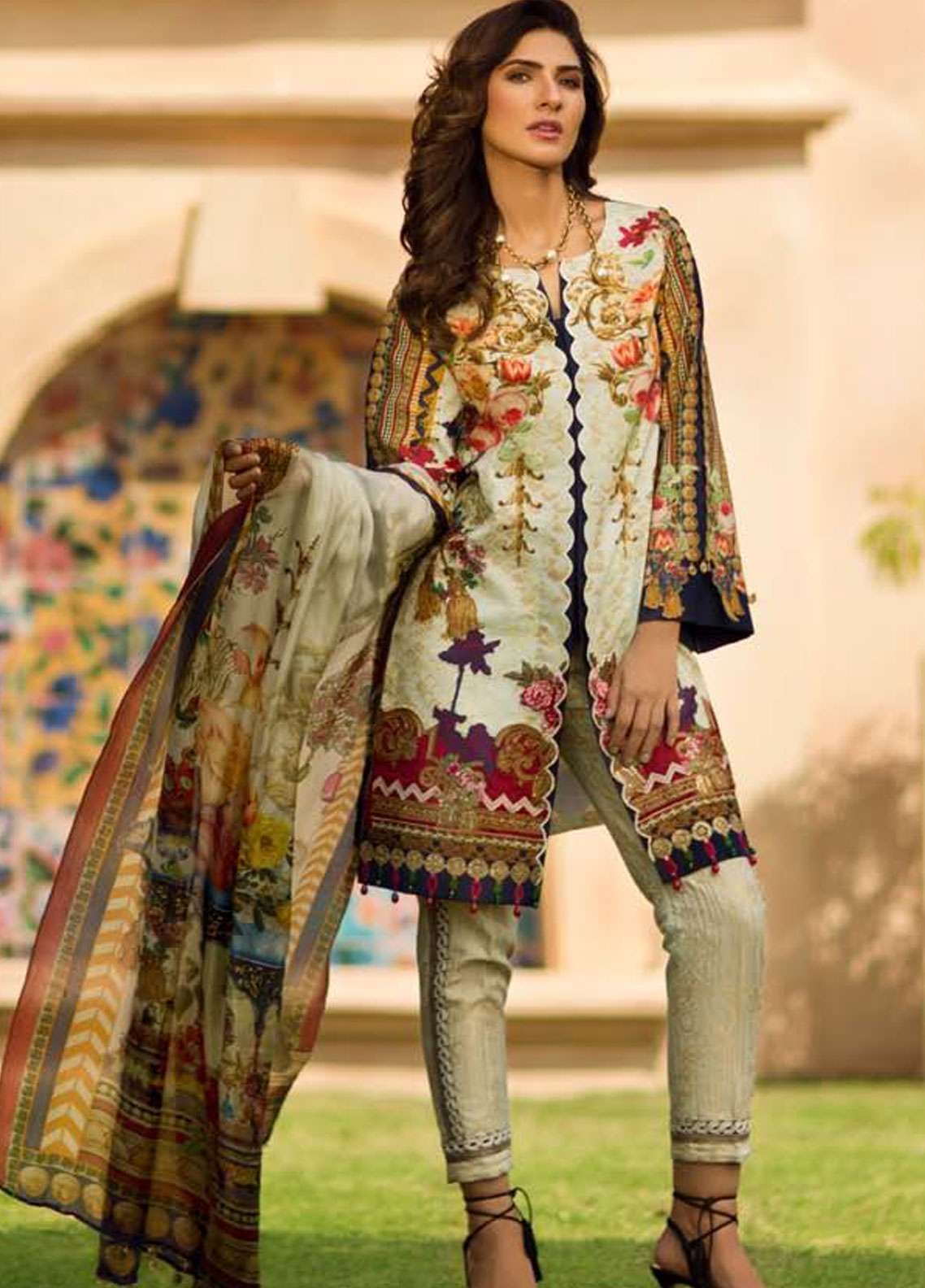 Firdous Fashion Embroidered Lawn Unstitched 3 Piece Suit FR19L 10 - Spring / Summer Collection