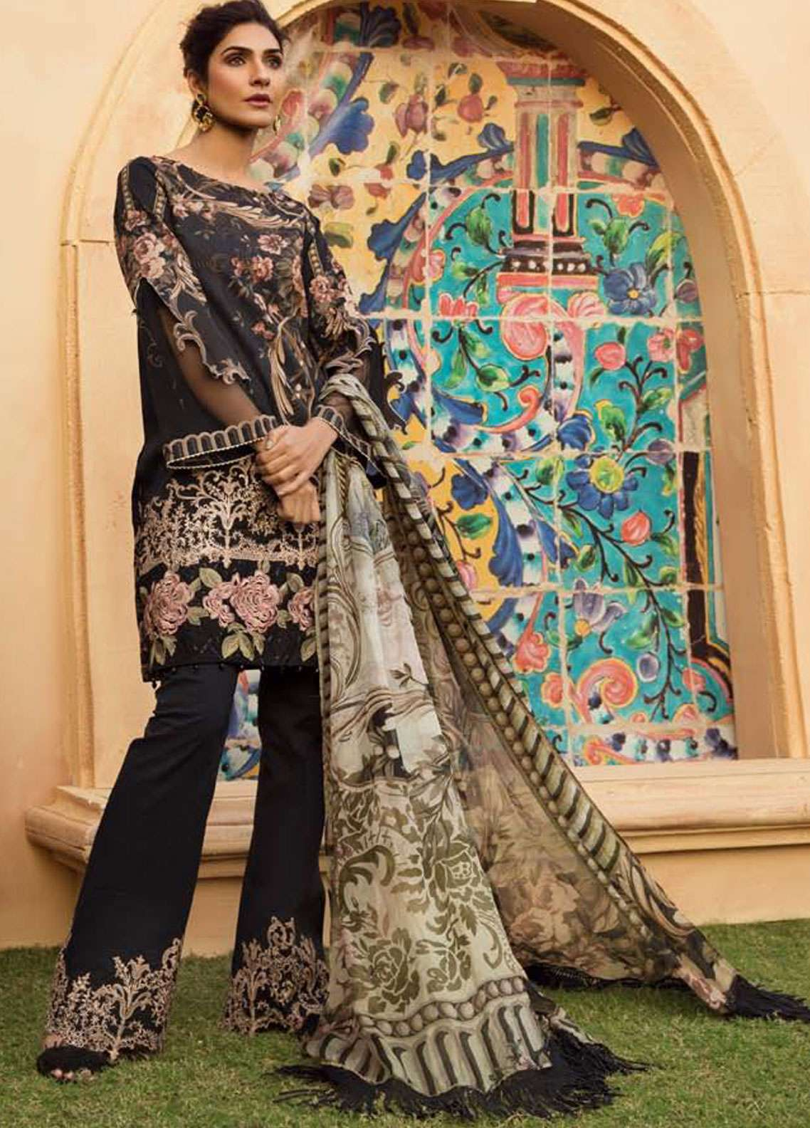 Firdous Fashion Embroidered Lawn Unstitched 3 Piece Suit FR19L 11 - Spring / Summer Collection