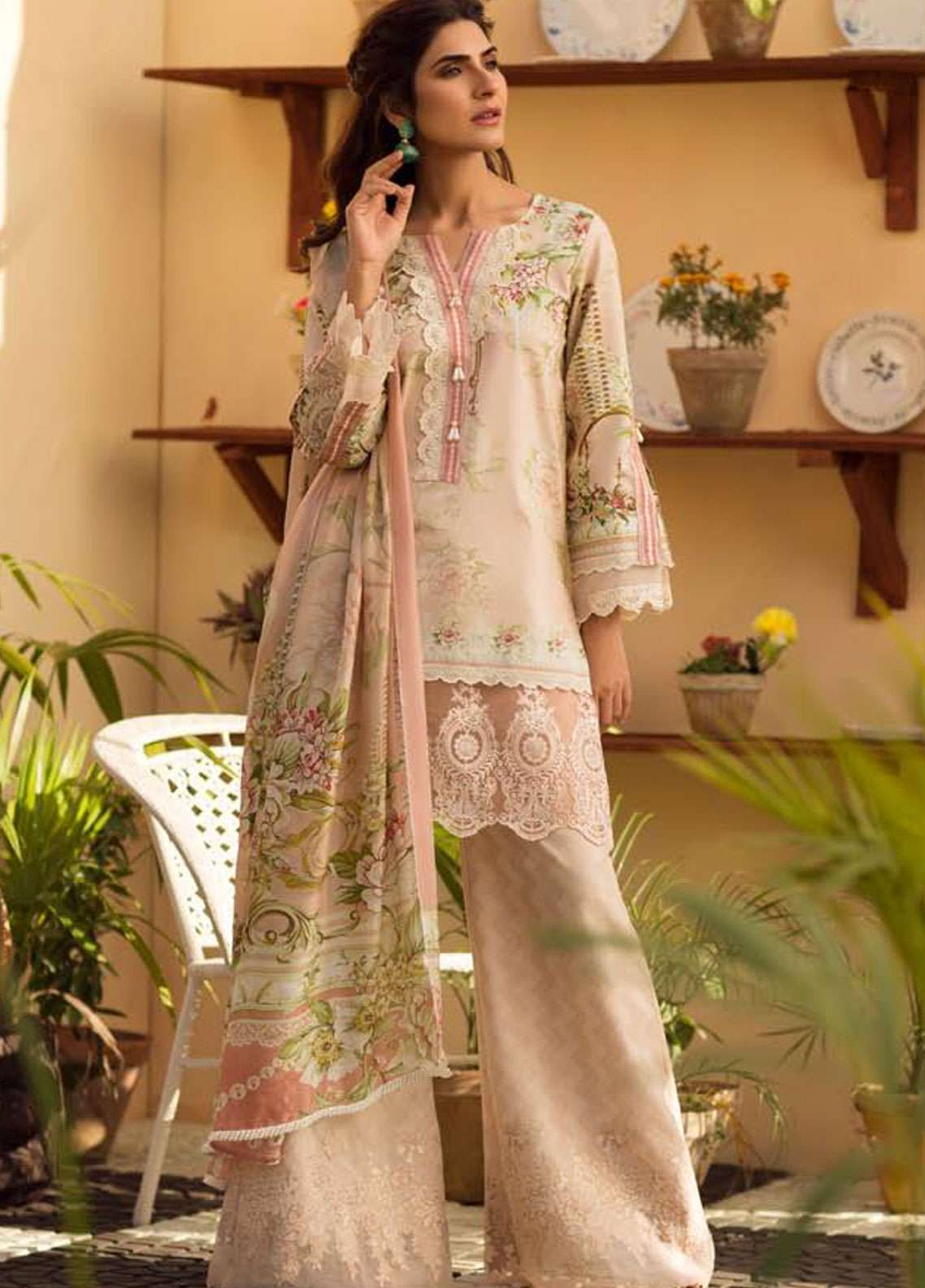 Firdous Fashion Embroidered Lawn Unstitched 3 Piece Suit FR19L 14 - Spring / Summer Collection