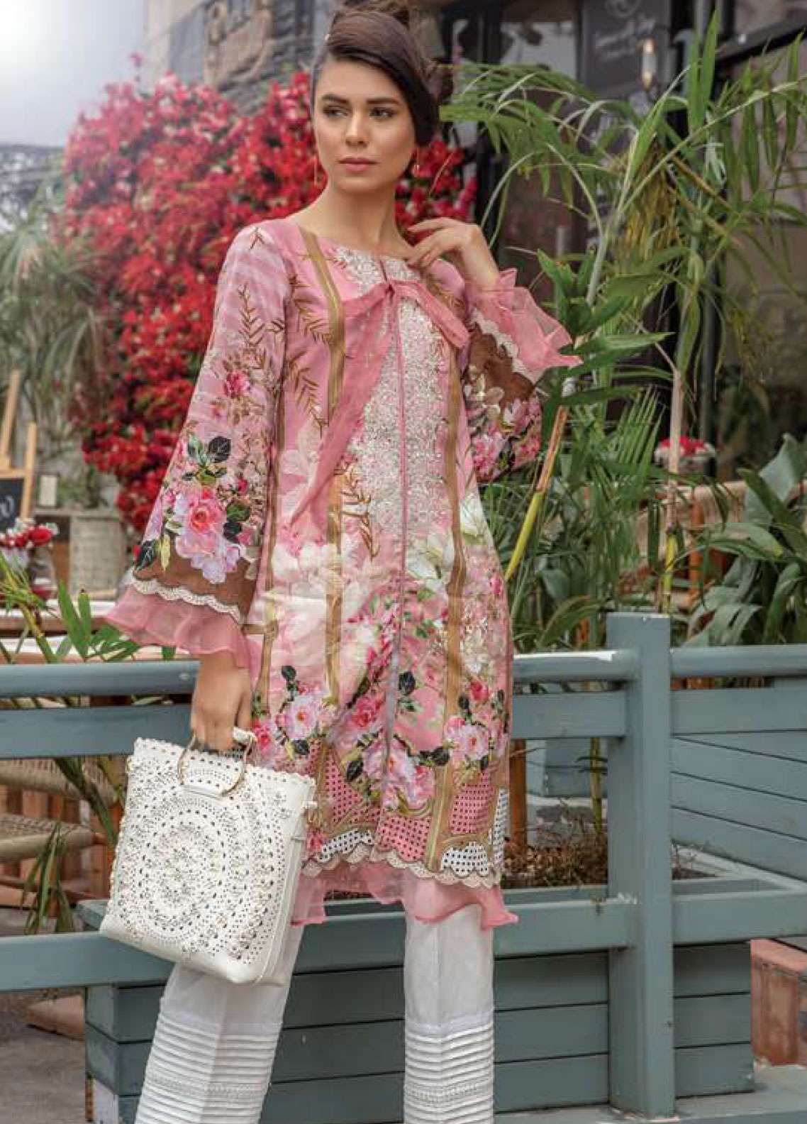 a4c57b6bba Firdous Fashion Embroidered Lawn Unstitched Kurties FR19K1 14 - Spring /  Summer Collection