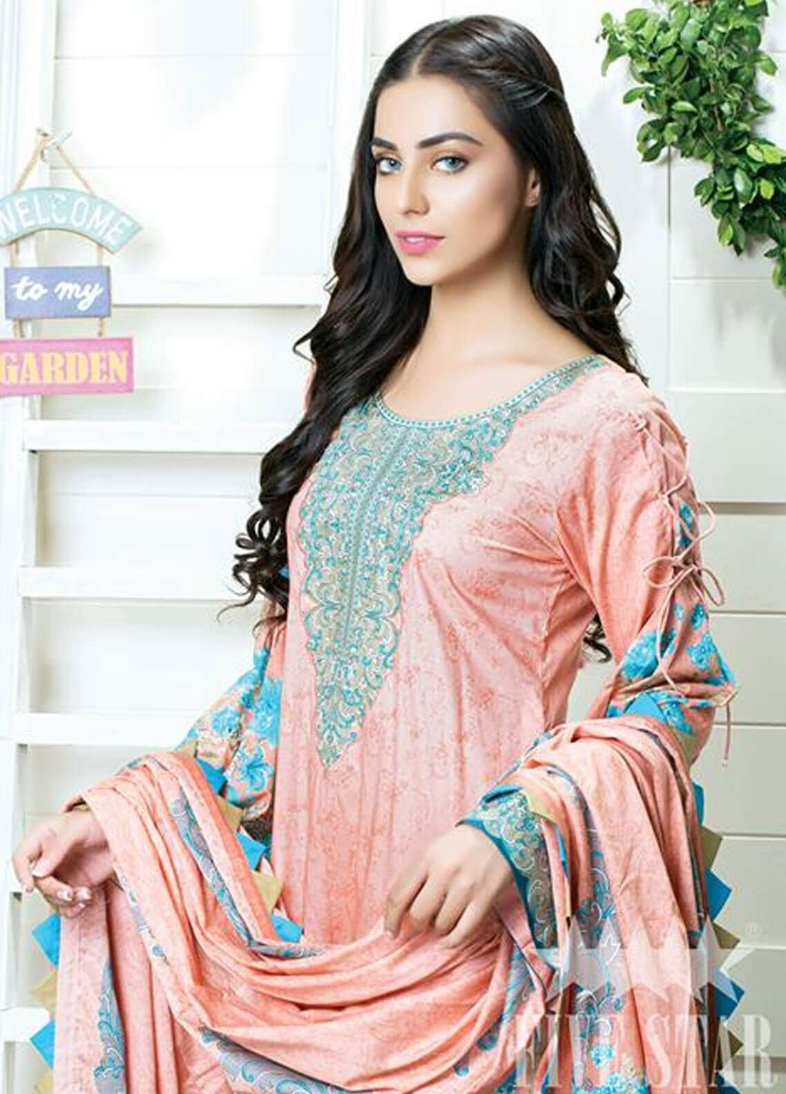 Five Star Printed Cambric Unstitched 3 Piece Suit FS18C 504A - Classic Collection