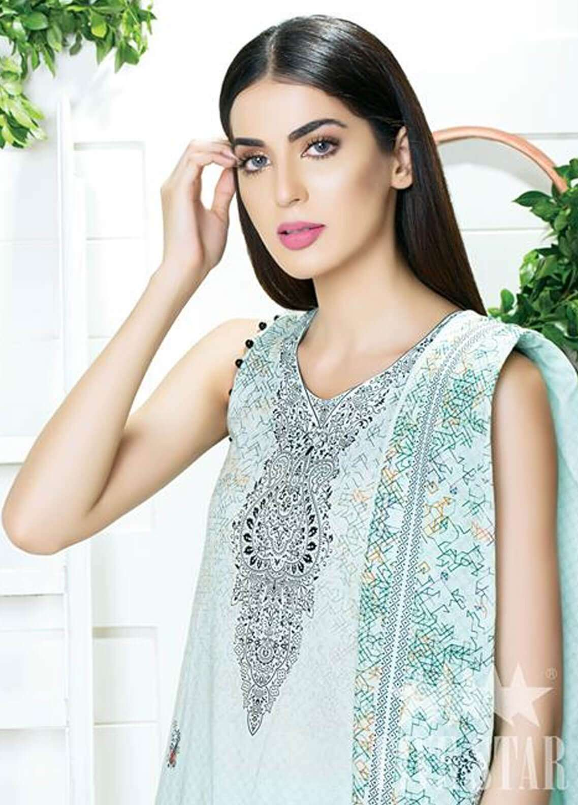 Five Star Printed Cambric Unstitched 3 Piece Suit FS18C 506A - Classic Collection