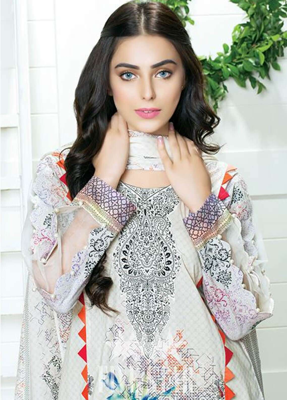 Five Star Printed Cambric Unstitched 3 Piece Suit FS18C 506B - Classic Collection