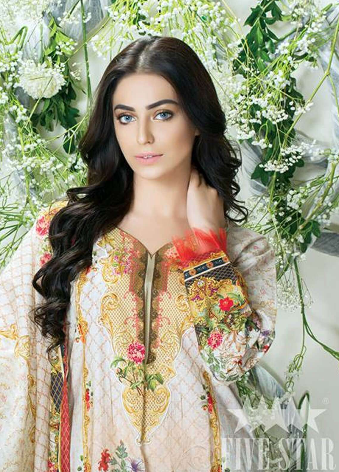 Five Star Printed Cambric Unstitched 3 Piece Suit FS18C 509 - Classic Collection