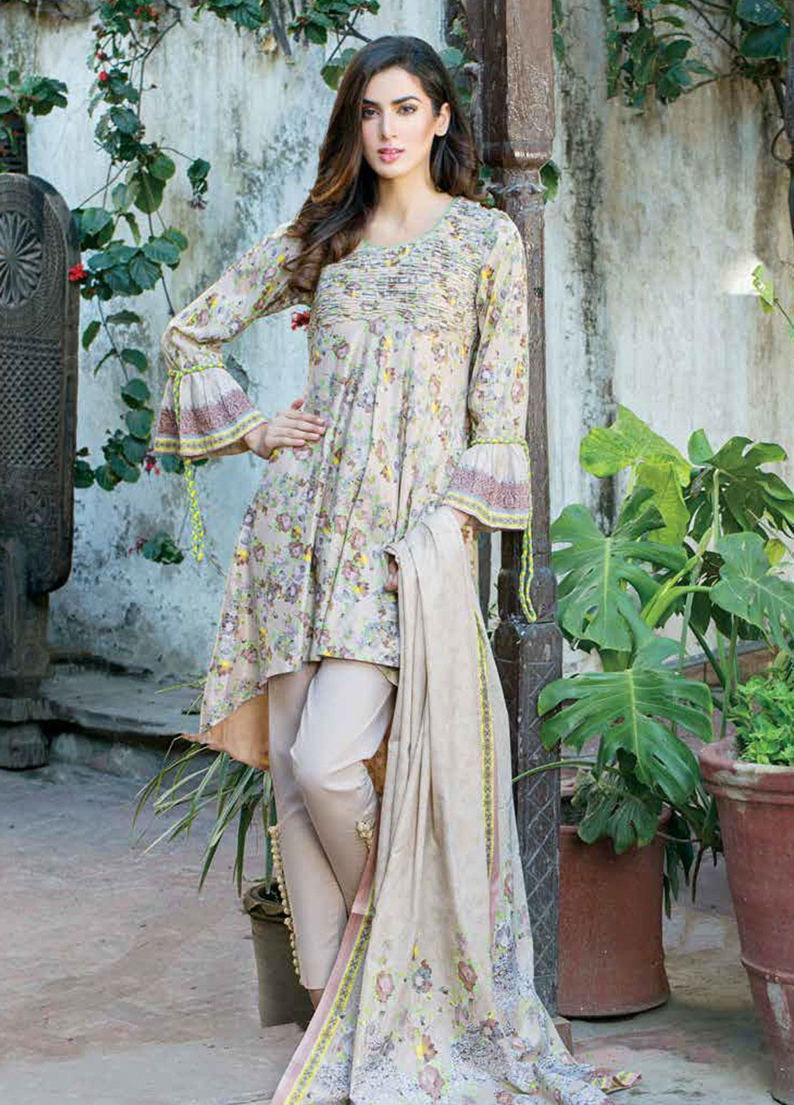 Five Star Printed Lawn Unstitched 3 Piece Suit FS19-L3 1013C - Spring / Summer Collection