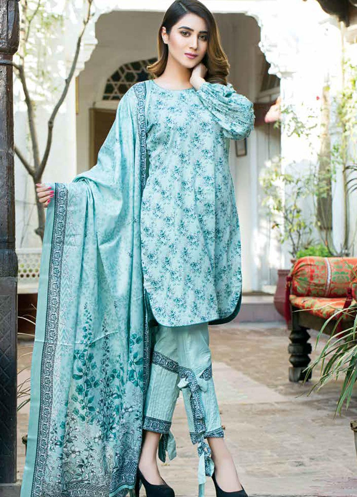 Five Star Printed Lawn Unstitched 3 Piece Suit FS19-L3 1014A - Spring / Summer Collection