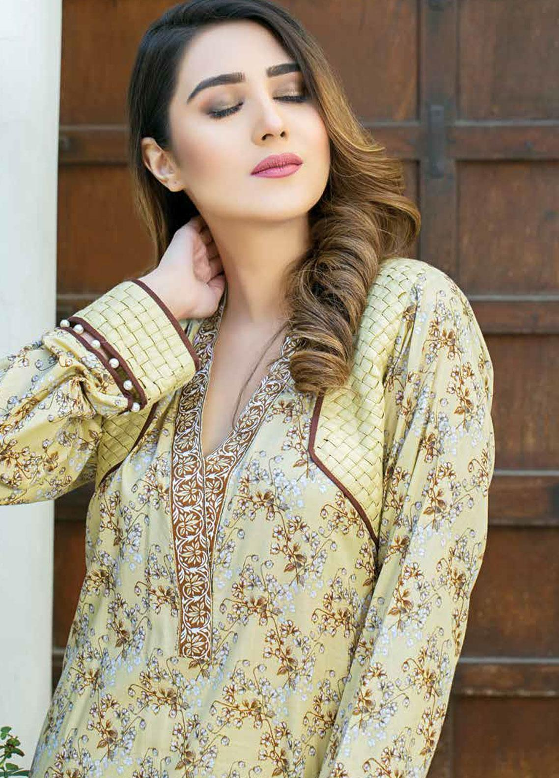 Five Star Printed Lawn Unstitched 3 Piece Suit FS19-L3 1014B - Spring / Summer Collection
