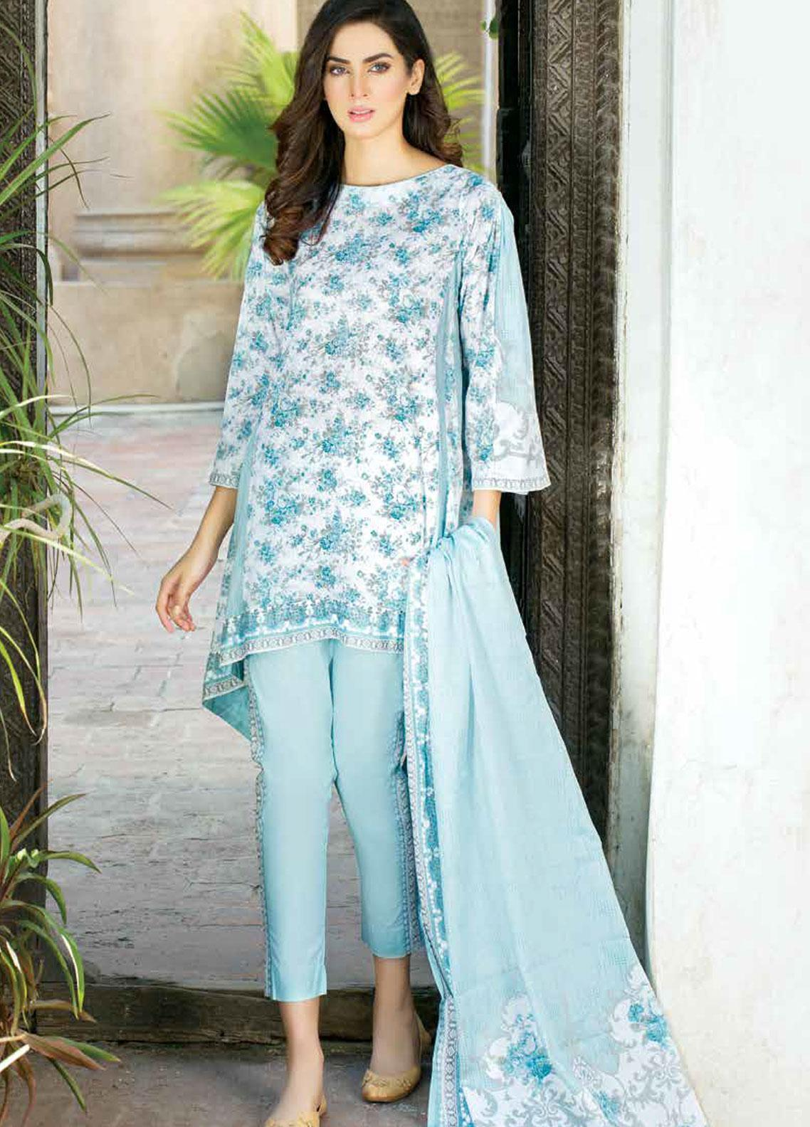 Five Star Printed Lawn Unstitched 3 Piece Suit FS19-L3 1015A - Spring / Summer Collection