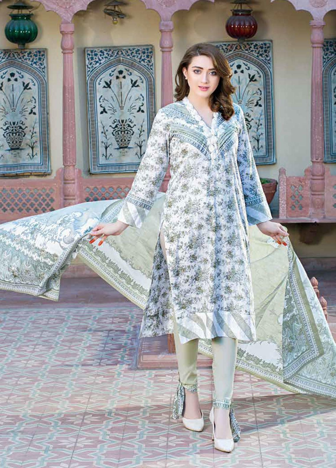 Five Star Printed Lawn Unstitched 3 Piece Suit FS19-L3 1015B - Spring / Summer Collection