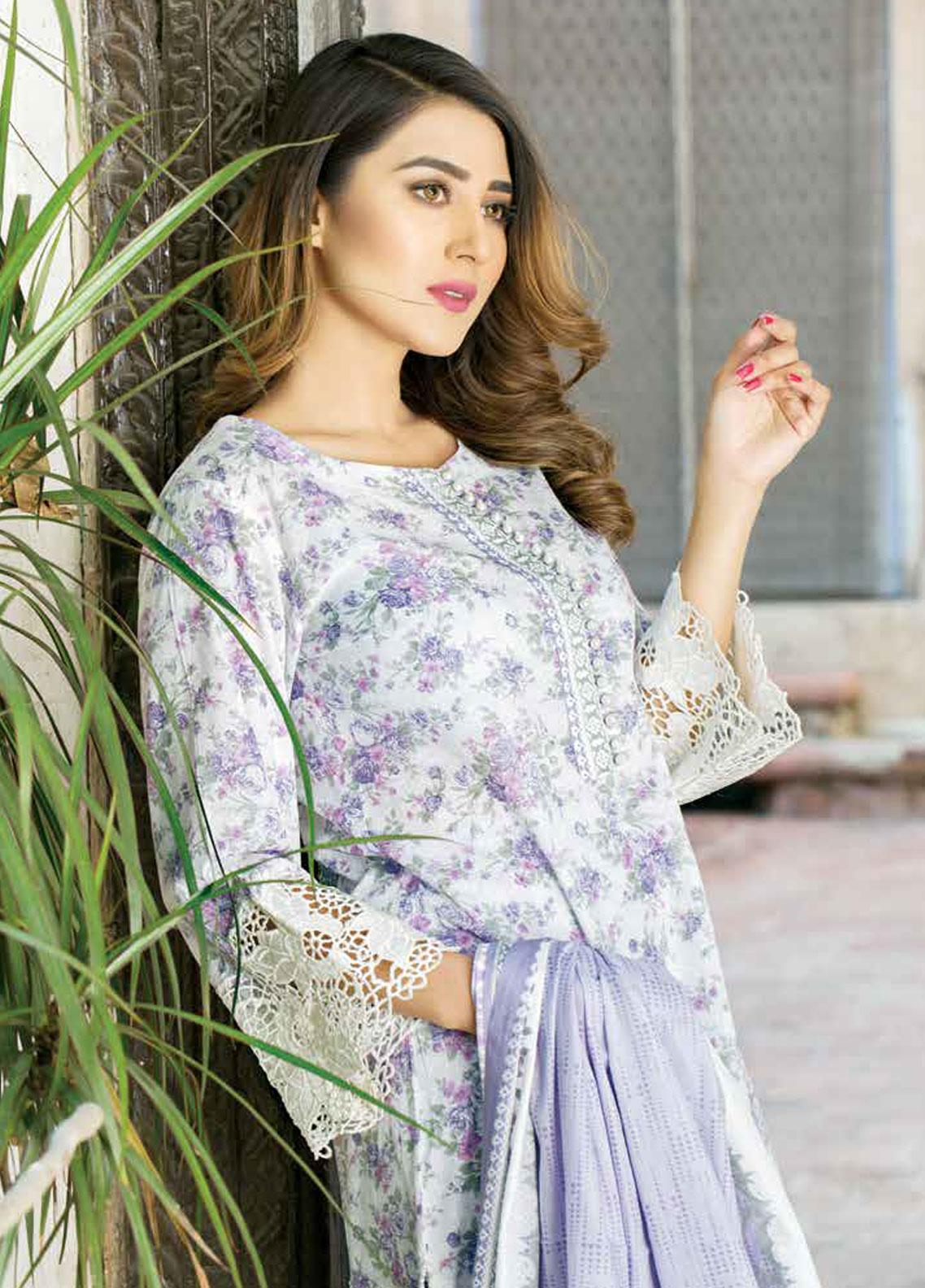 Five Star Printed Lawn Unstitched 3 Piece Suit FS19-L3 1015C - Spring / Summer Collection