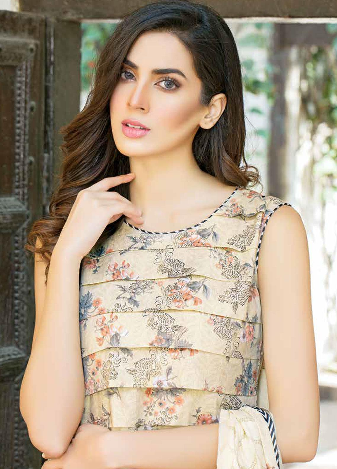 Five Star Printed Lawn Unstitched 3 Piece Suit FS19-L3 1016A - Spring / Summer Collection