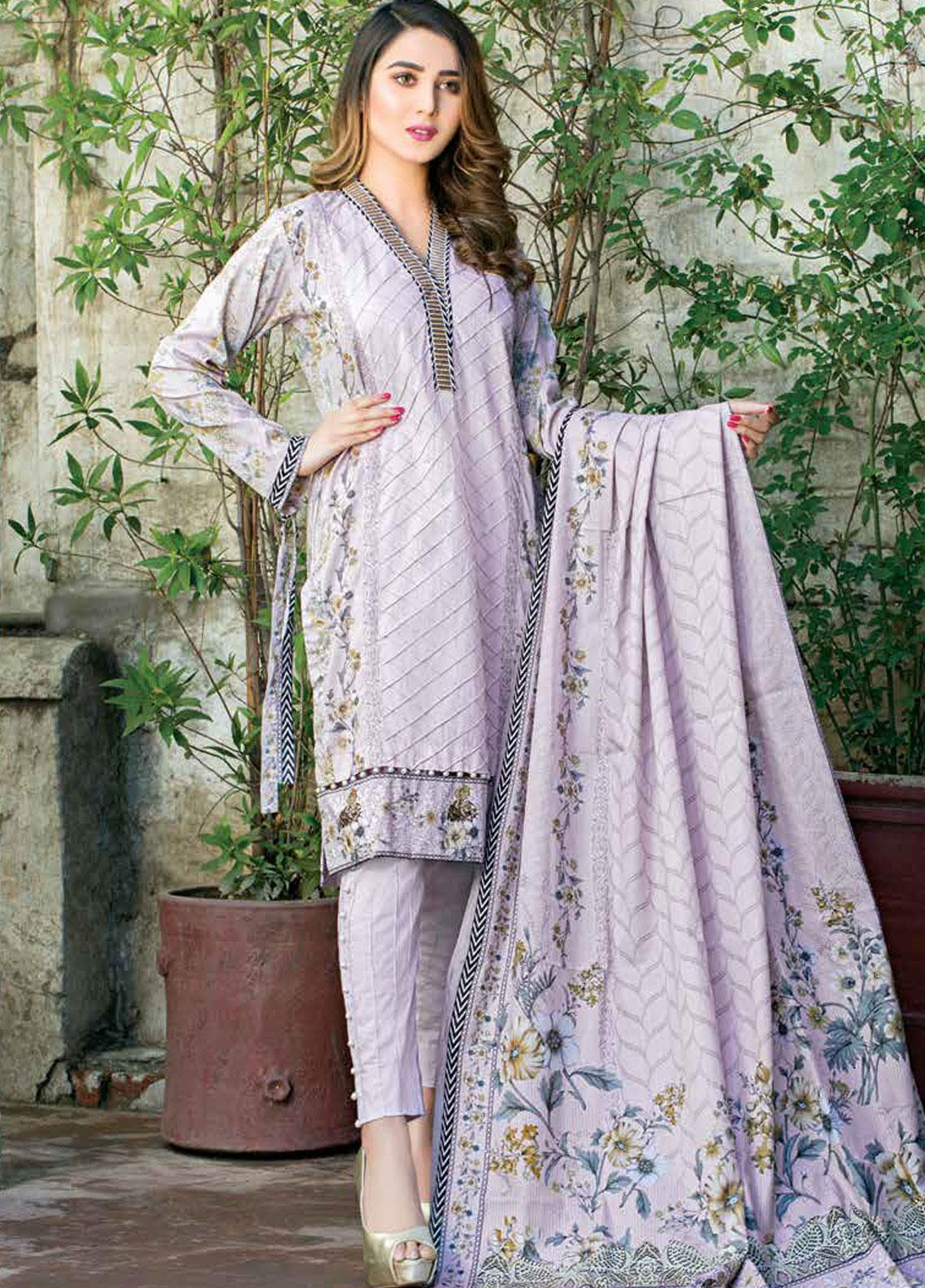 Five Star Printed Lawn Unstitched 3 Piece Suit FS19-L3 1016B - Spring / Summer Collection