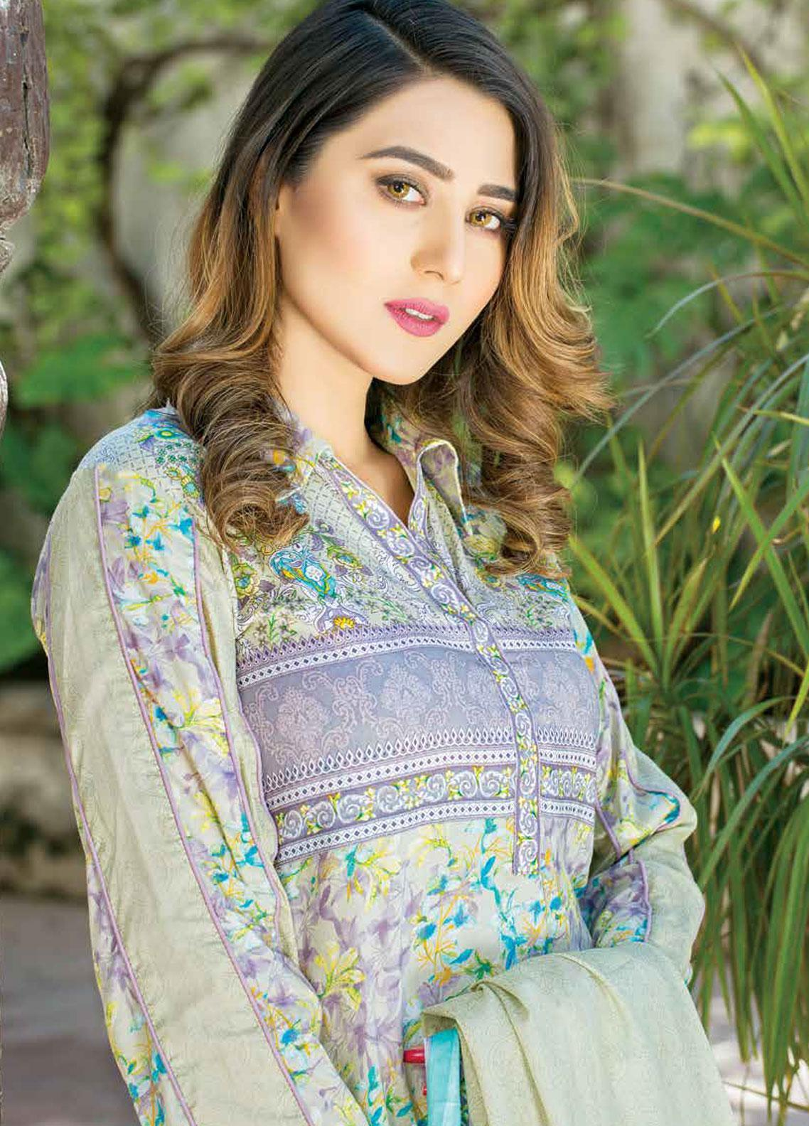 Five Star Printed Lawn Unstitched 3 Piece Suit FS19-L3 1018A - Spring / Summer Collection