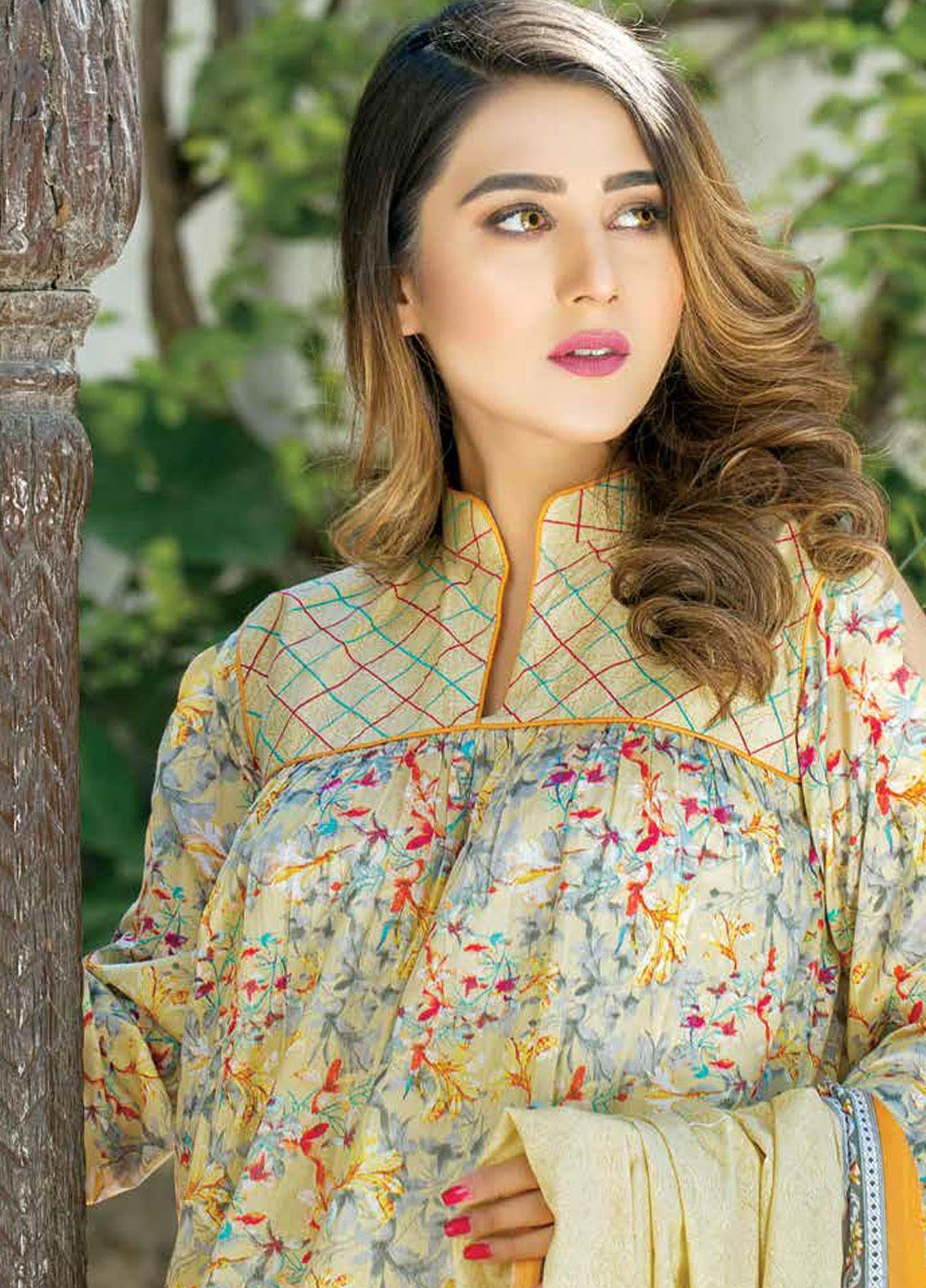 Five Star Printed Lawn Unstitched 3 Piece Suit FS19-L3 1018B - Spring / Summer Collection
