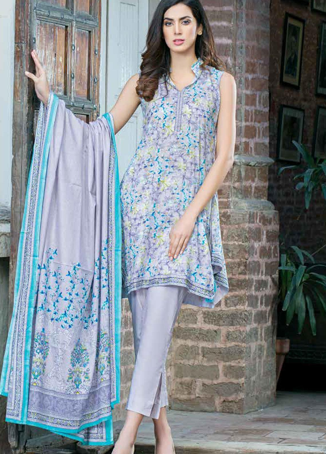 Five Star Printed Lawn Unstitched 3 Piece Suit FS19-L3 1018C - Spring / Summer Collection