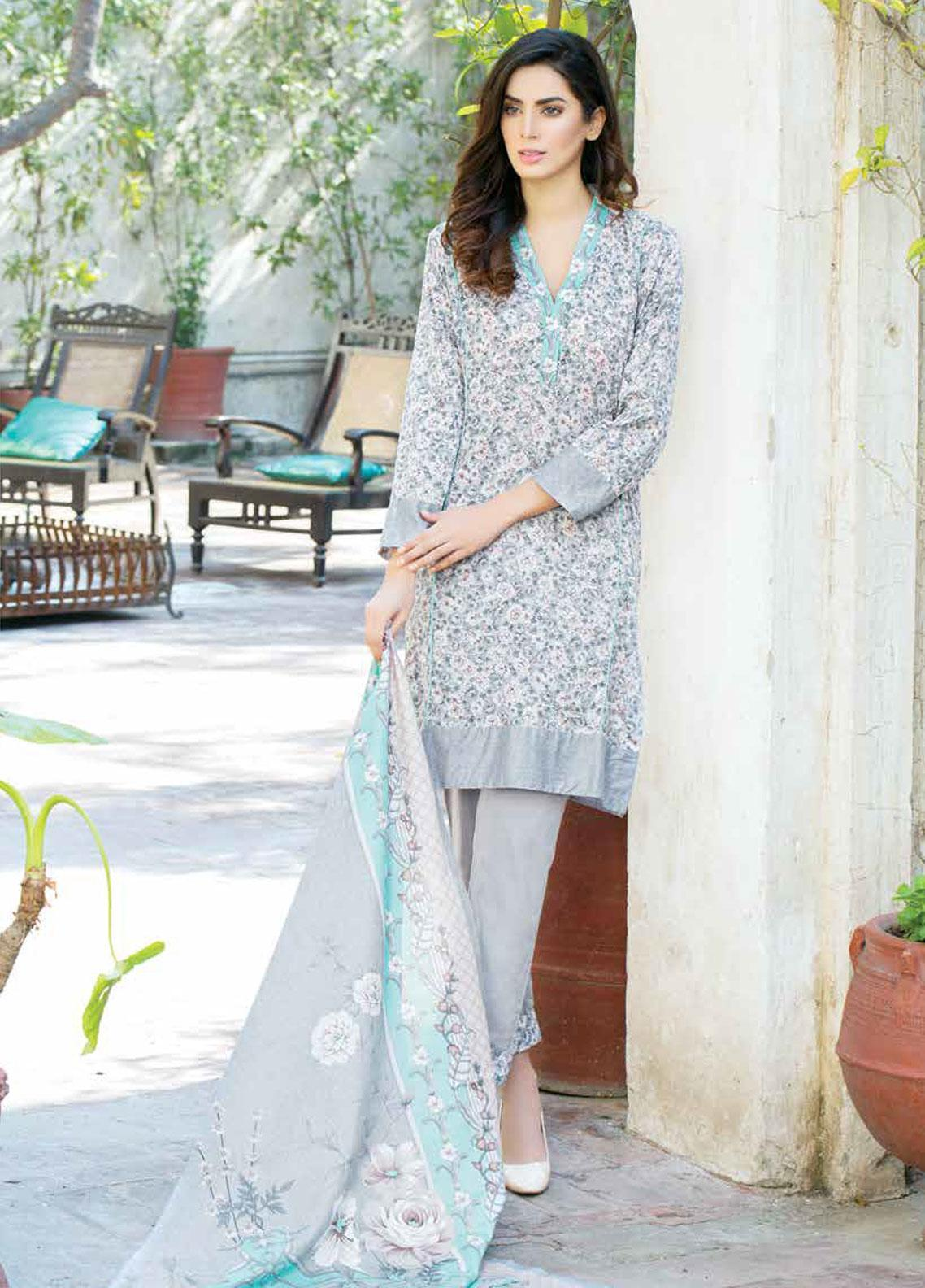 Five Star Printed Lawn Unstitched 3 Piece Suit FS19-L3 1020B - Spring / Summer Collection