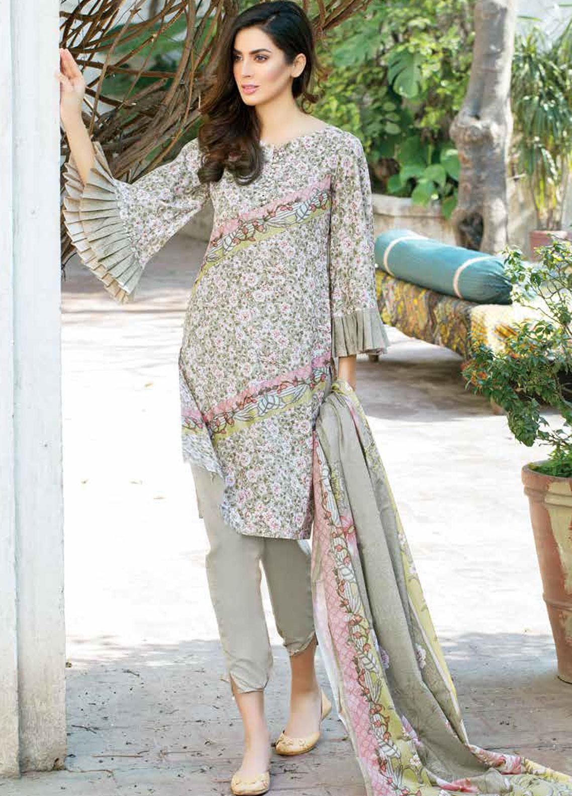 Five Star Printed Lawn Unstitched 3 Piece Suit FS19-L3 1020C - Spring / Summer Collection