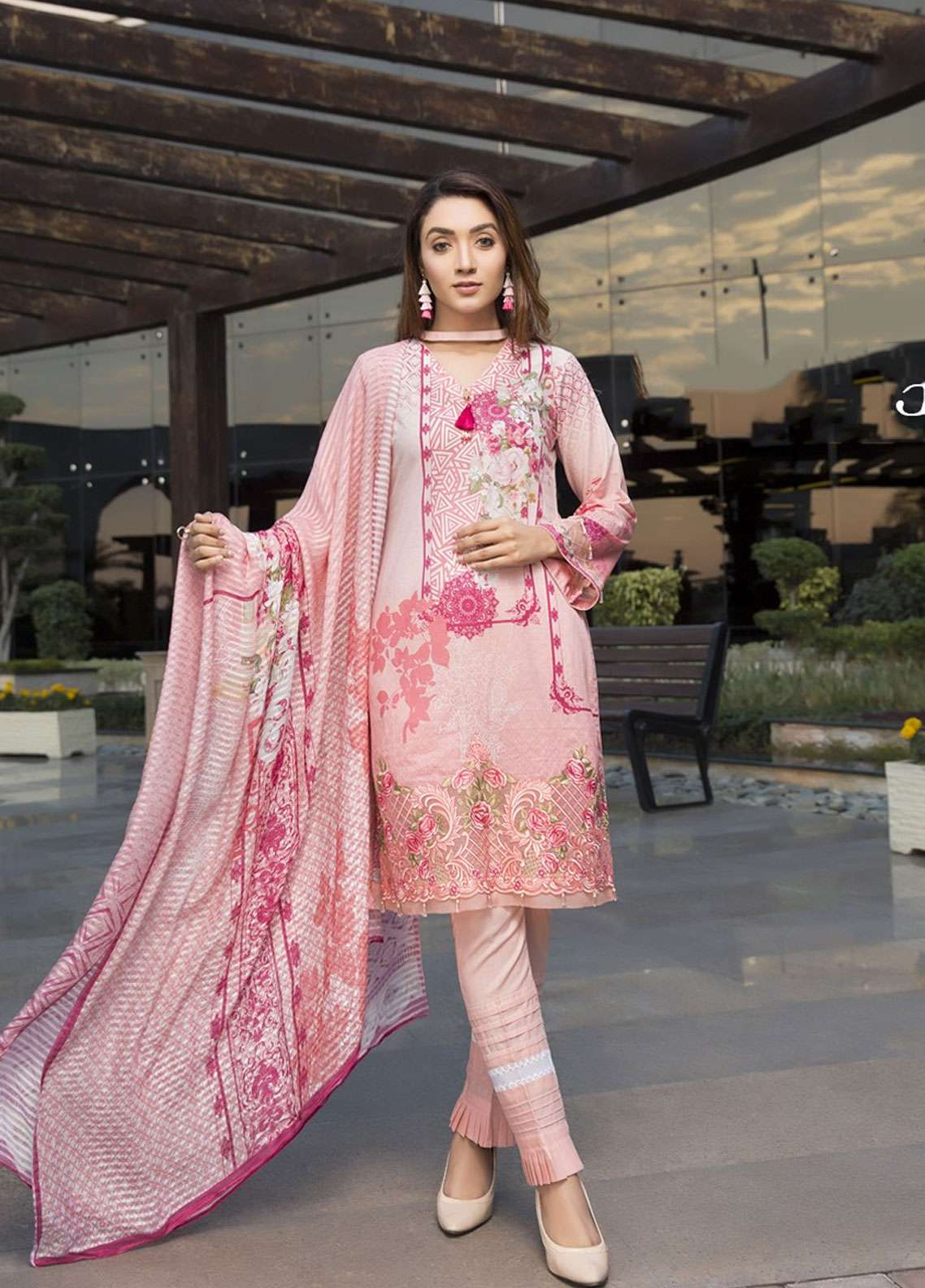 Florence by Mohagni Embroidered Lawn Unstitched 3 Piece Suit FMO19L 03 - Spring / Summer Collection