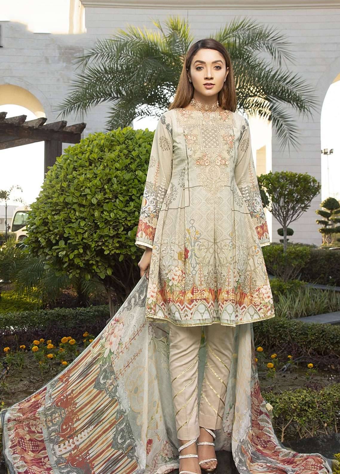 Florence by Mohagni Embroidered Lawn Unstitched 3 Piece Suit FMO19L 04 - Spring / Summer Collection