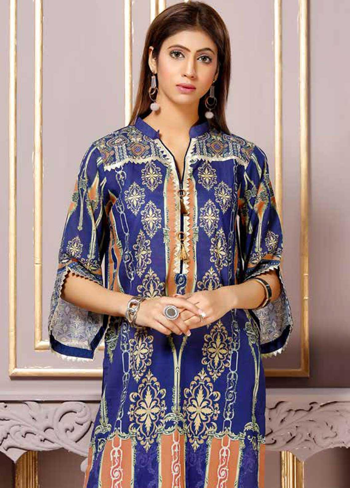 Florence by Mohagni Printed Lawn Unstitched Kurties FMO19-T2 01 - Mid Summer Collection