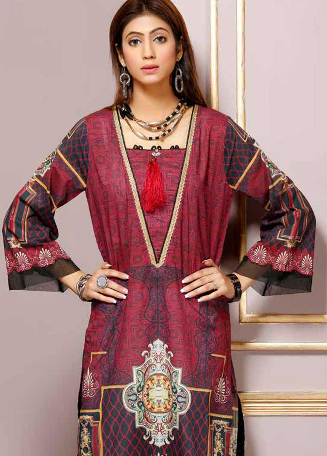 Florence by Mohagni Printed Lawn Unstitched Kurties FMO19-T2 07 - Mid Summer Collection