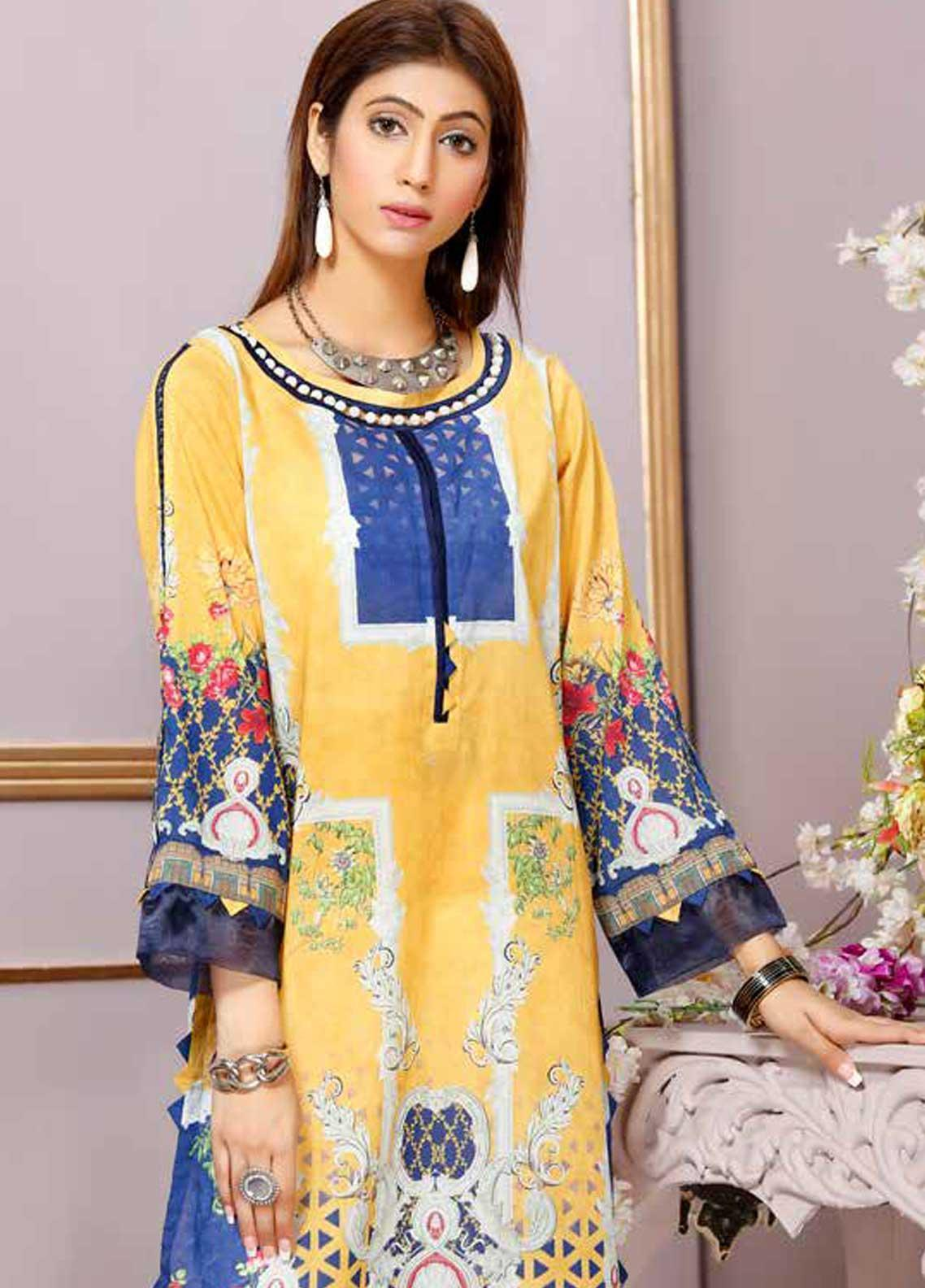 Florence by Mohagni Printed Lawn Unstitched Kurties FMO19-T2 11 - Mid Summer Collection