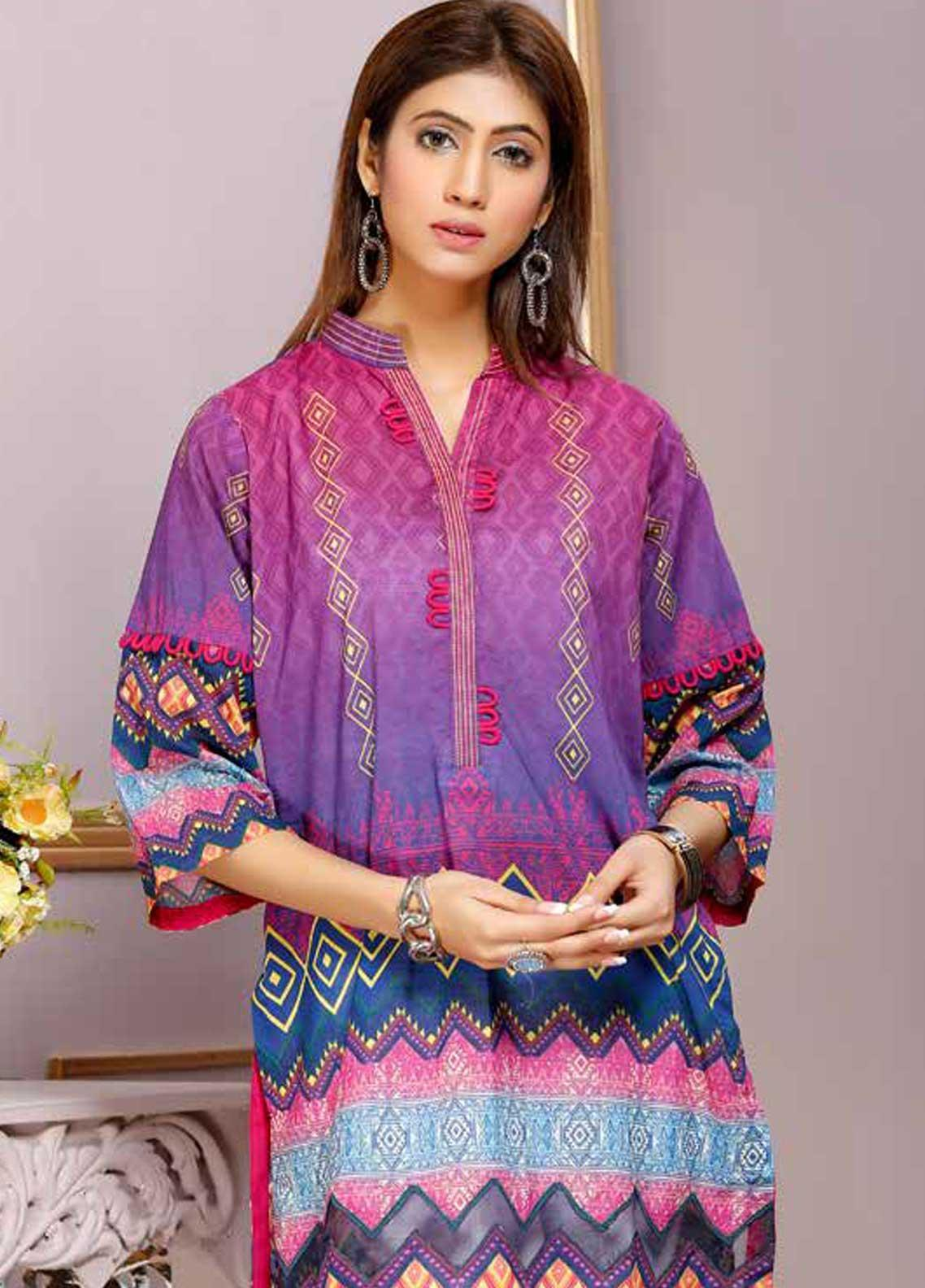 Florence by Mohagni Printed Lawn Unstitched Kurties FMO19-T2 12 - Mid Summer Collection